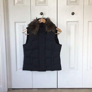 Vest with faux fur